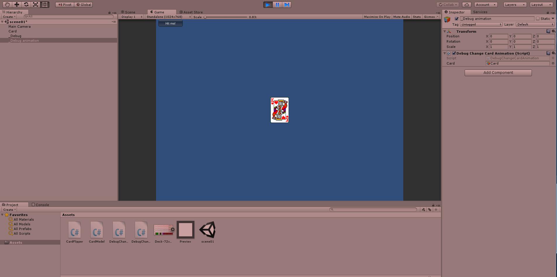 カードゲームをunityとc#で作りたい:カードをひっくり返すアニメーション編(3)