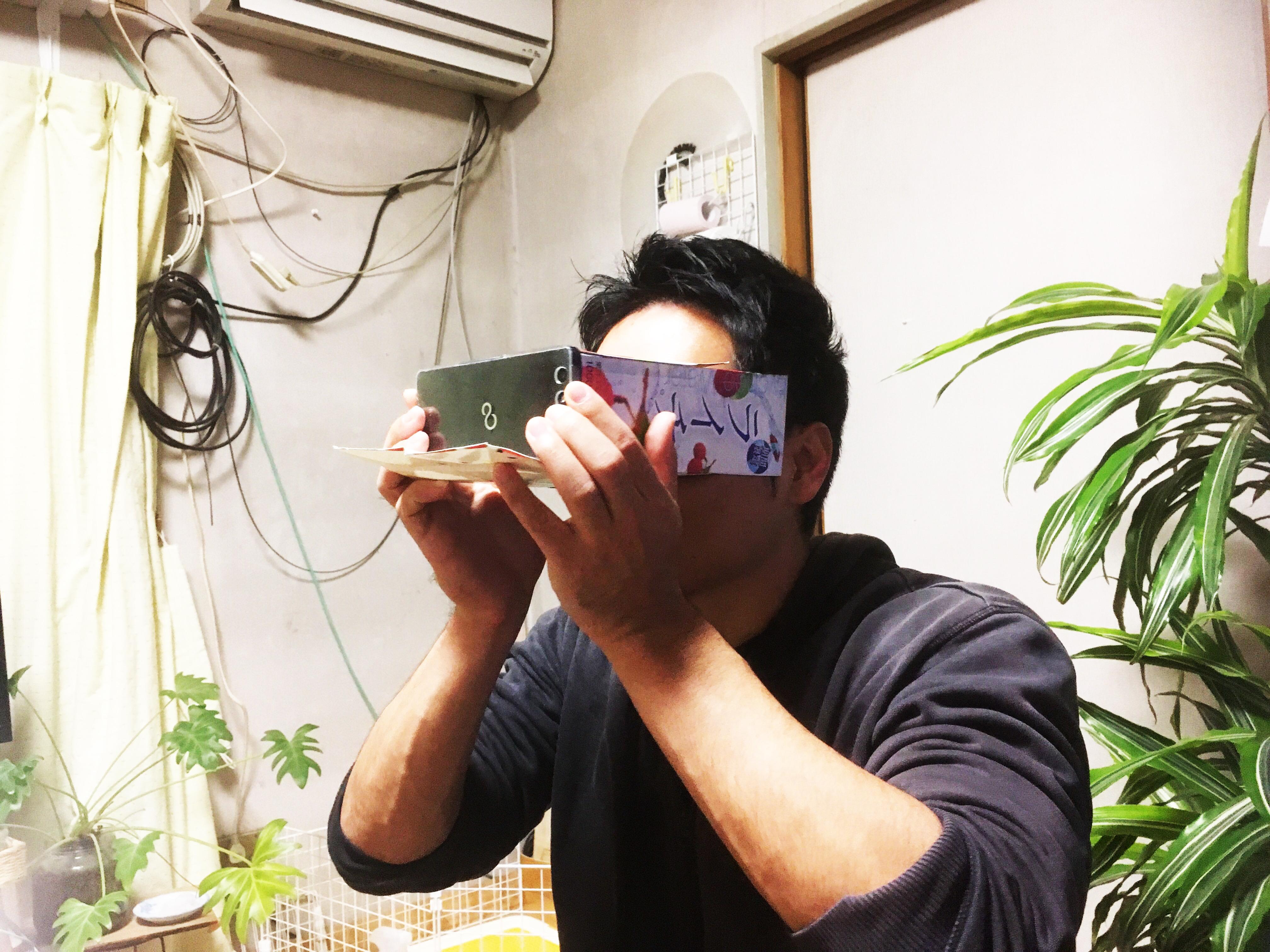 OculusRift/VR BOSS/Canbor/紙パック+老眼鏡x2/100円レンズ/様々なUnity用のVRゴーグルテスト勉強会