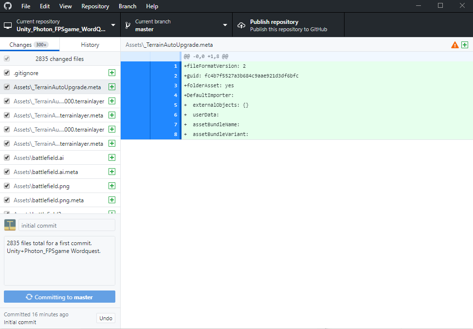 Unity+PhotonでFPS風撃ち合いネットワーク対戦ゲーム: GitHub でバージョン管理